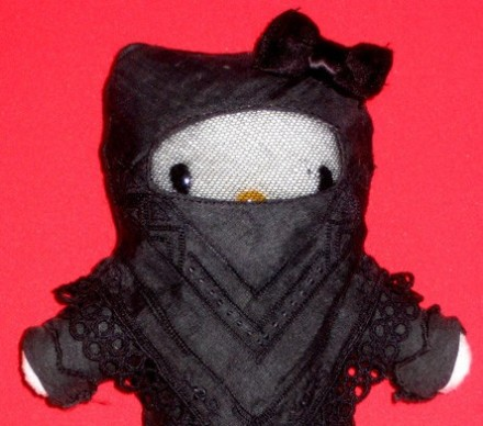 hello kitty niqab hijab plush