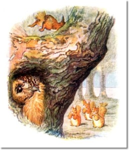 beatrix-potter-the-tale-of-squirrel-nutkin-1903-nutkin-espcapes-out-attic-window